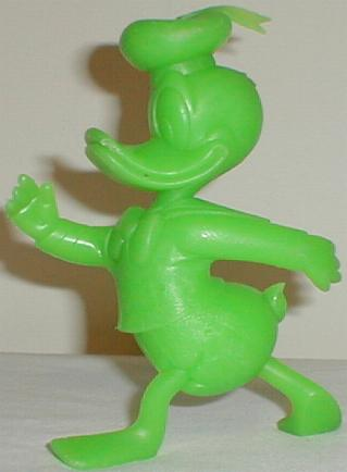 This Is A 6 Solid Plastic Bright Green Figure Of Donald Duck Who Shown In Power Walking Pose He Was Manufactured 1971 By Marx As Part Large