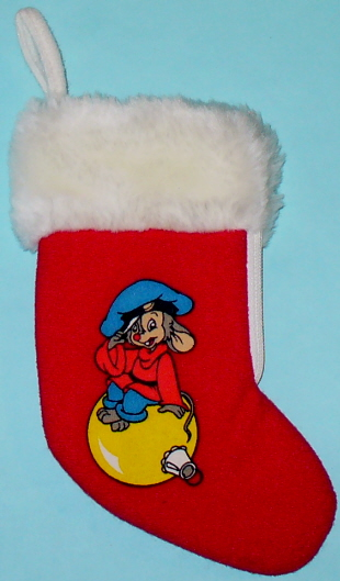 This Is A 7 Red Felt Christmas Stocking With White Plush Upper Portion It Has Zipper On The Side Enabling To Be Opened Closed Easily For Filling
